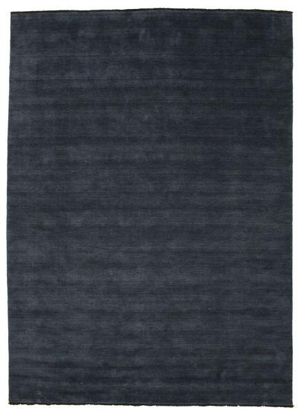 Handloom Fringes - Mørk Blå Teppe 250X350 Moderne Mørk Blå Stort (Ull, India)