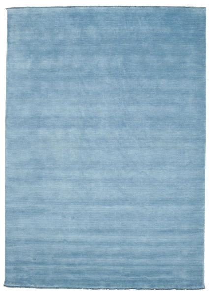 Handloom Fringes - Lys Blå Teppe 250X350 Moderne Lys Blå Stort (Ull, India)