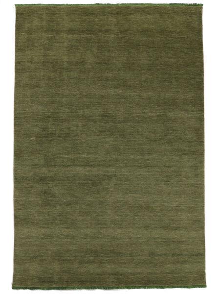 Handloom Fringes - Grønn Teppe 160X230 Moderne Olivengrønn (Ull, India)