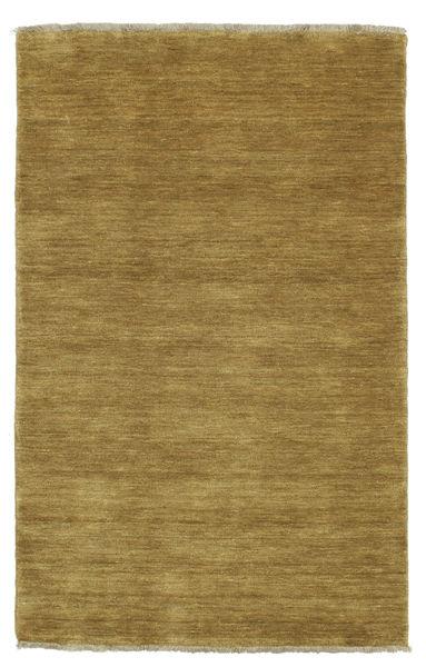 Handloom Fringes - Olivengrønn Teppe 100X160 Moderne Olivengrønn/Brun (Ull, India)