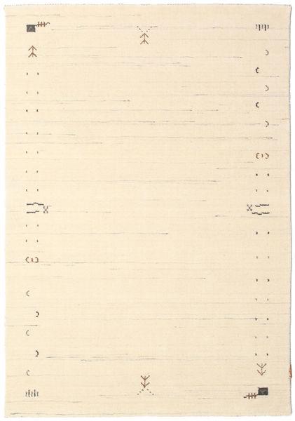Gabbeh Loom Frame - Off White Teppe 140X200 Moderne Beige/Mørk Beige (Ull, India)