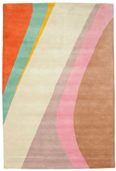 Dynamic Handtufted - Pink Teppe 200X300 Moderne Beige/Rust (Ull, India)