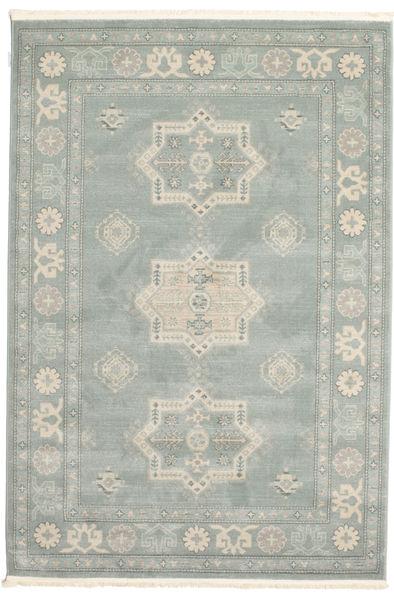 Kazak Lafayette Teppe 160X230 Orientalsk Turkis Blå/Lys Grå/Lysgrønn ( Tyrkia)