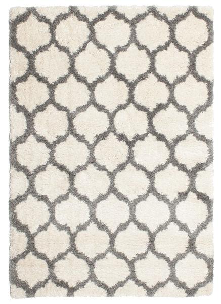 Berber Shaggy Illusia - Off White/Grå Teppe 160X230 Moderne Beige/Lys Grå ( Tyrkia)