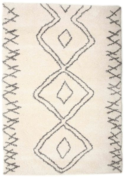 Berber Shaggy Massin Teppe 160X230 Moderne Beige/Lys Grå ( Tyrkia)