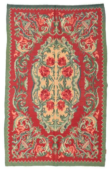 Rosekelim Moldavia Teppe 154X242 Ekte Orientalsk Håndvevd Rust/Olivengrønn (Ull, Moldova)