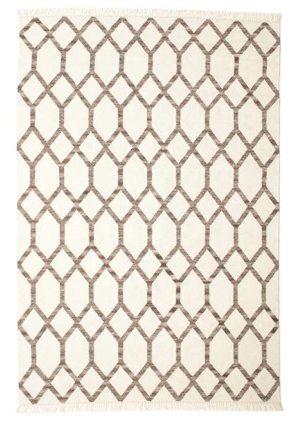 Renzo Teppe 200X300 Ekte Moderne Håndvevd Beige/Lys Grå (Ull, India)