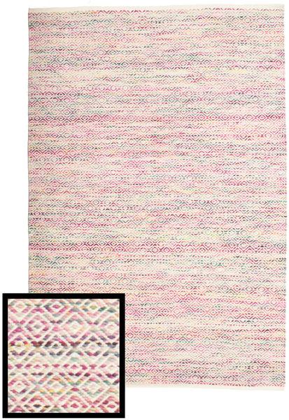Hugo - Multi Pink Teppe 140X200 Ekte Moderne Håndvevd Lyserosa/Lys Grå ( India)