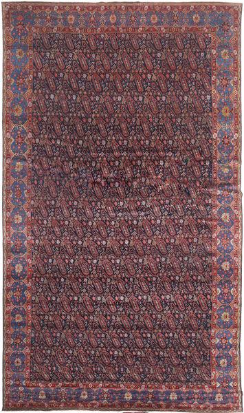 Senneh Teppe 368X639 Ekte Orientalsk Håndknyttet Mørk Brun/Lilla Stort (Ull, Persia/Iran)