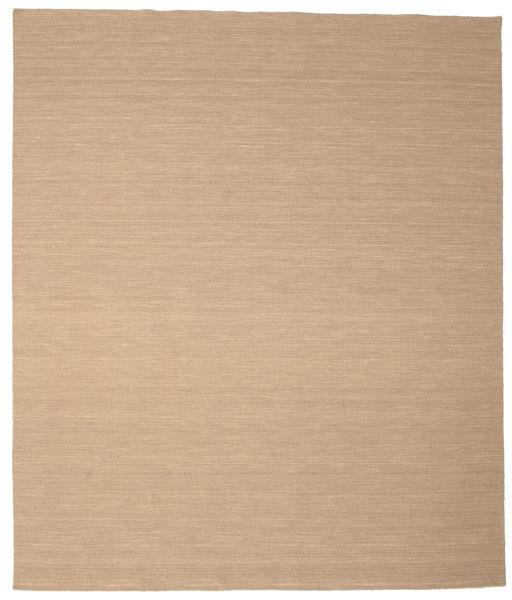 Kelim Loom - Beige Teppe 250X300 Ekte Moderne Håndvevd Lysbrun/Mørk Beige/Beige Stort (Ull, India)