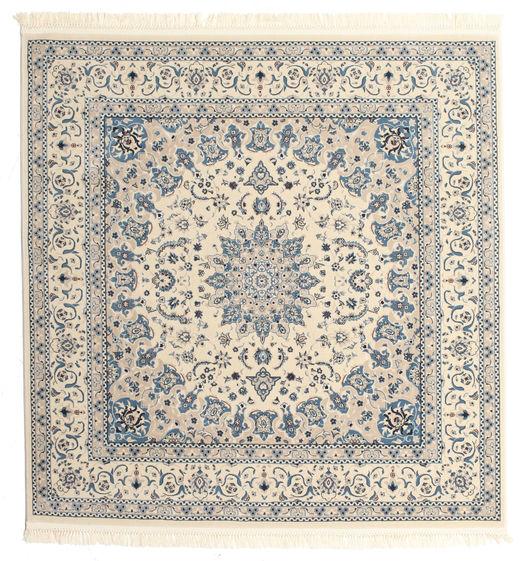 Nain Emilia - Beige/Blå Teppe 250X250 Orientalsk Kvadratisk Lys Grå/Beige Stort ( Tyrkia)