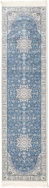 Nain Emilia - Lys Blå Teppe 80X300 Orientalsk Teppeløpere Lys Grå/Blå ( Tyrkia)