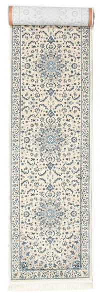 Nain Emilia - Cream/Lys Blå Teppe 80X350 Orientalsk Teppeløpere Lys Grå/Beige ( Tyrkia)