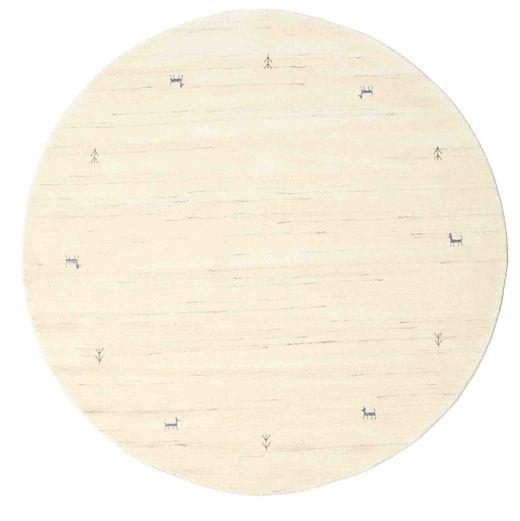 Gabbeh Loom Two Lines - Off White Teppe Ø 200 Moderne Rundt Beige/Hvit/Creme (Ull, India)