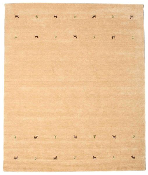 Gabbeh Loom Two Lines - Beige Teppe 240X290 Moderne Mørk Beige/Lysbrun (Ull, India)