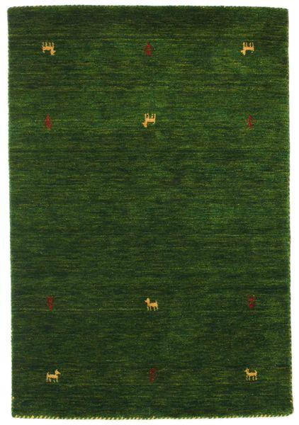 Gabbeh Loom Two Lines - Grønn Teppe 100X160 Moderne Mørk Grønn (Ull, India)