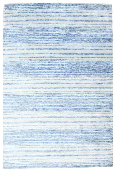 Bamboo Silke Handloom Teppe 202X304 Ekte Moderne Håndknyttet Lys Blå/Beige ( India)
