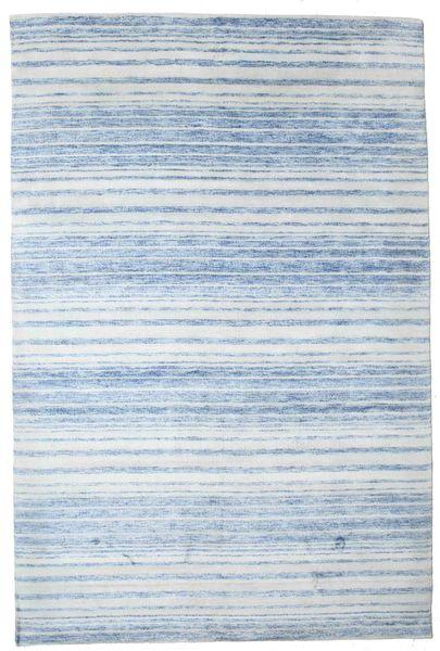 Bamboo Silke Handloom Teppe 201X303 Ekte Moderne Håndknyttet Lys Blå/Beige ( India)