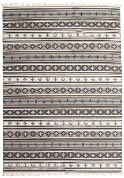 Kelim Cizre Teppe 240X340 Ekte Moderne Håndvevd Lys Grå/Beige (Ull, India)