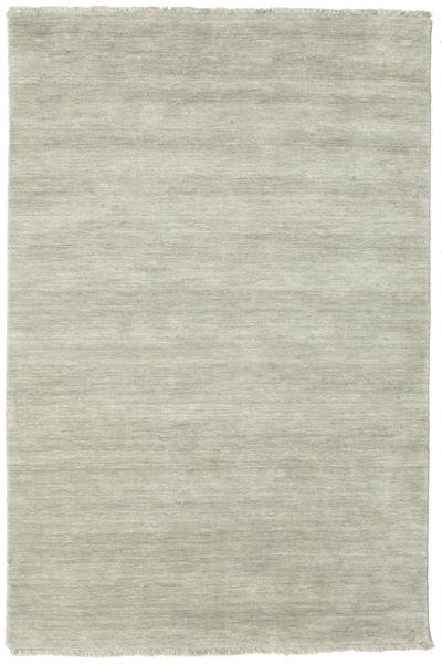 Handloom Fringes - Grå/Lys Grønn Teppe 120X180 Moderne Lys Grå/Lysbrun (Ull, India)