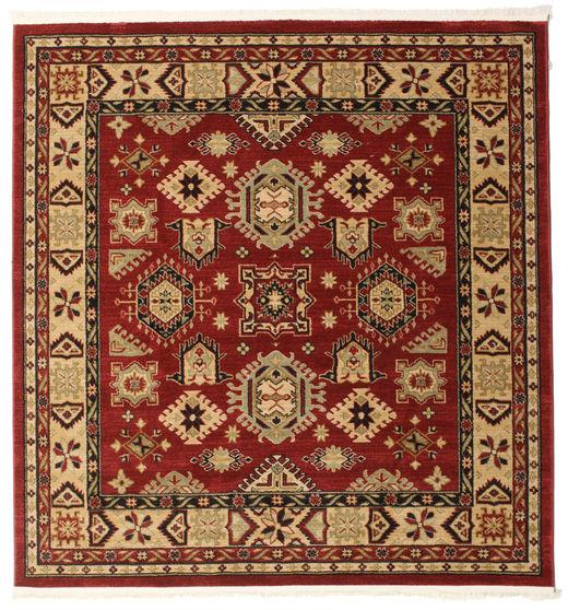 Shirvan Kazak Teppe 200X200 Orientalsk Kvadratisk Lysbrun/Mørk Rød ( Tyrkia)