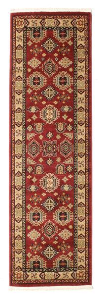 Shirvan Kazak Teppe 80X250 Orientalsk Teppeløpere Mørk Rød/Lysbrun ( Tyrkia)