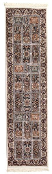Nova Bakhtiar Teppe 80X300 Orientalsk Teppeløpere Lys Grå/Mørk Brun ( Tyrkia)