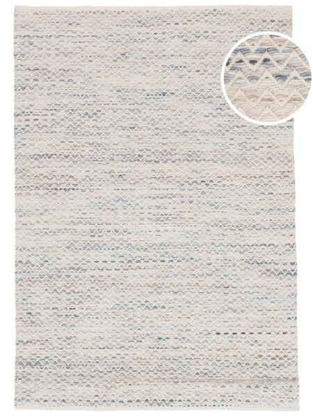 Chevron Waves - Lys Teppe 160X230 Ekte Moderne Håndvevd Beige/Lys Grå ( India)