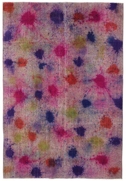 Colored Vintage Teppe 196X290 Ekte Moderne Håndknyttet Rosa/Lilla (Ull, Tyrkia)
