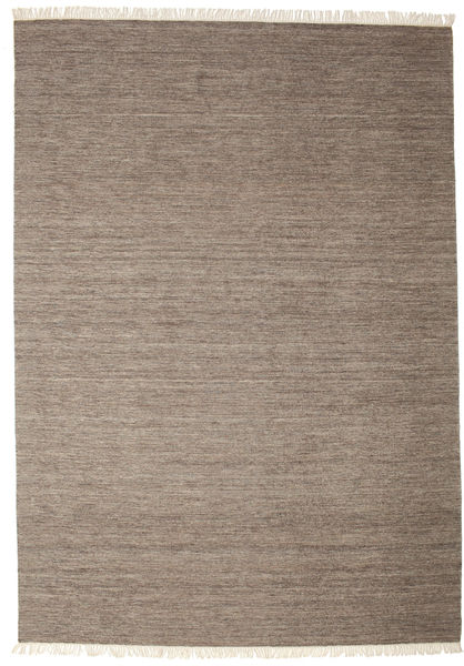 Melange - Brun Teppe 250X350 Ekte Moderne Håndvevd Lys Grå/Brun Stort (Ull, India)