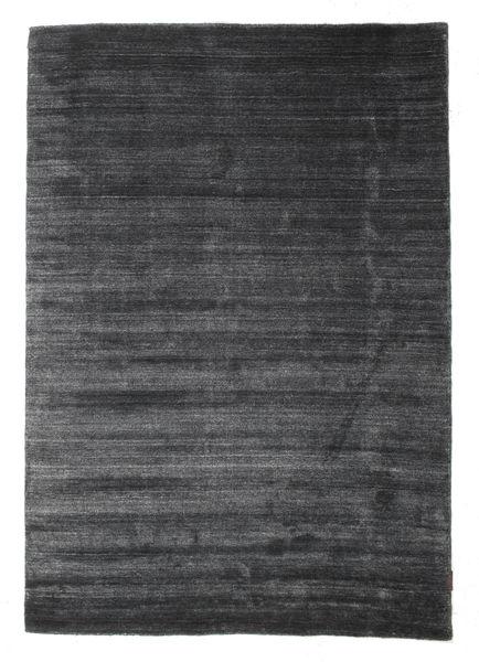 Bamboo Silke Loom - Charcoal Teppe 140X200 Moderne Mørk Grå/Svart ( India)