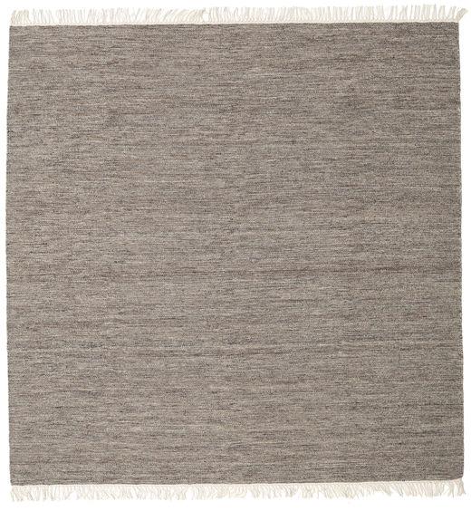 Melange - Brun Teppe 300X300 Ekte Moderne Håndvevd Kvadratisk Lys Grå/Mørk Grå Stort (Ull, India)