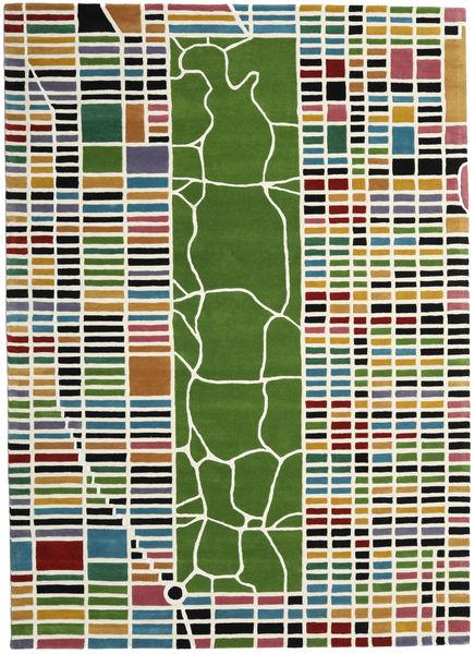 New-York/Manhattan Handtufted - Multi Teppe 200X300 Moderne Beige/Olivengrønn (Ull, India)