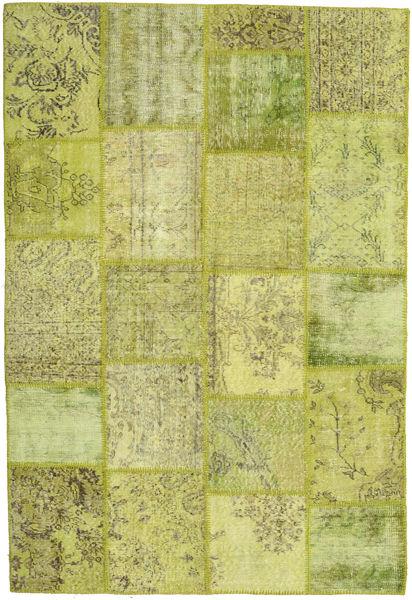 Patchwork Teppe 156X232 Ekte Moderne Håndknyttet Lysgrønn/Olivengrønn (Ull, Tyrkia)