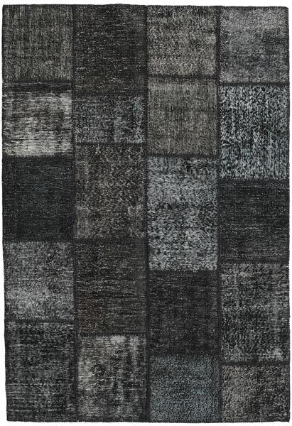 Patchwork Teppe 159X231 Ekte Moderne Håndknyttet Mørk Grønn/Mørk Grå (Ull, Tyrkia)