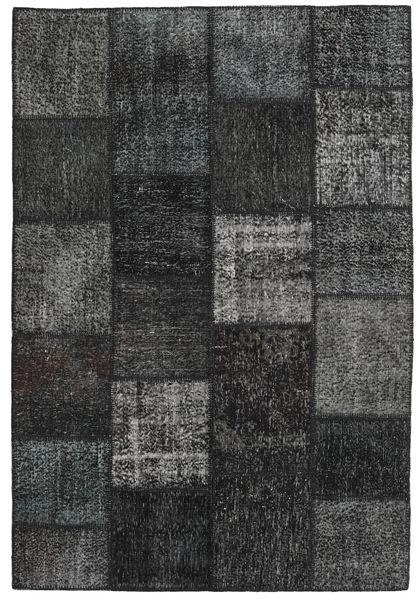 Patchwork Teppe 158X234 Ekte Moderne Håndknyttet Mørk Grønn/Mørk Grå (Ull, Tyrkia)