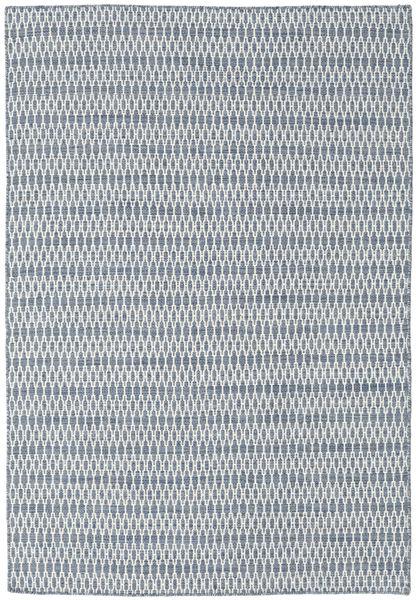 Kelim Long Stitch - Blå Teppe 160X230 Ekte Moderne Håndvevd Lys Grå/Lys Blå (Ull, India)