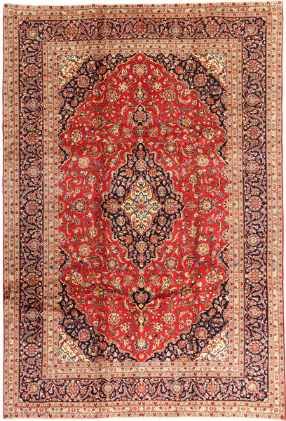 Keshan Teppe 240X355 Ekte Orientalsk Håndknyttet Mørk Rød/Rust (Ull, Persia/Iran)