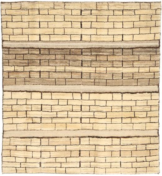 Gabbeh Persia Teppe 121X136 Ekte Moderne Håndknyttet Beige/Lysbrun/Mørk Beige (Ull, Persia/Iran)