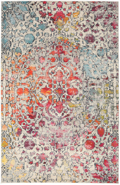Kaleidoscope - Multi Teppe 200X300 Moderne Lys Grå/Mørk Brun ( Tyrkia)