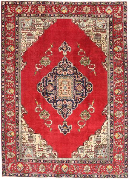 Tabriz Patina Teppe 236X324 Ekte Orientalsk Håndknyttet Rød/Mørk Rød (Ull, Persia/Iran)