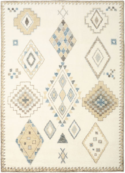 Berber Indisk - Off White/Beige Teppe 240X340 Ekte Moderne Håndknyttet Beige/Hvit/Creme (Ull, India)