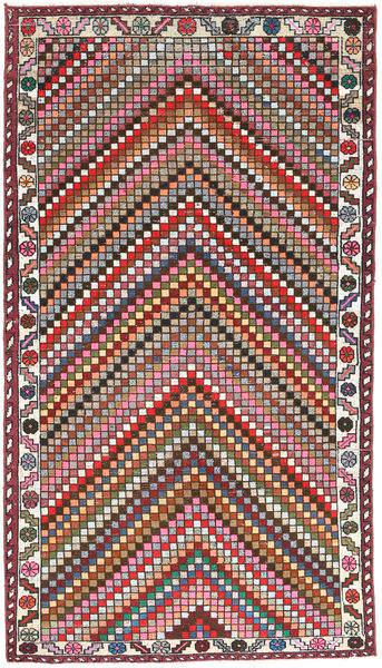 Hamadan Patina Teppe 107X200 Ekte Orientalsk Håndknyttet Mørk Grå/Mørk Rød (Ull, Persia/Iran)
