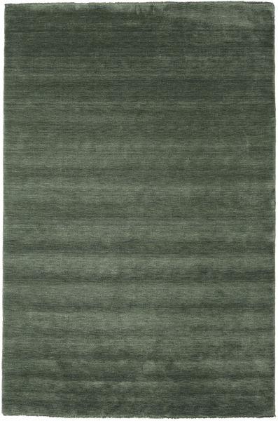Handloom Fringes - Skogsgrønn Teppe 200X300 Moderne Olivengrønn/Mørk Grønn (Ull, India)