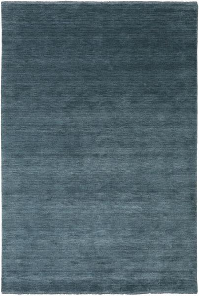 Handloom Fringes - Dyb Petrol Teppe 200X300 Moderne Blå/Mørk Blå (Ull, India)