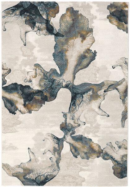 Lily Teppe 155X230 Moderne Lys Grå/Mørk Grønn ( Tyrkia)