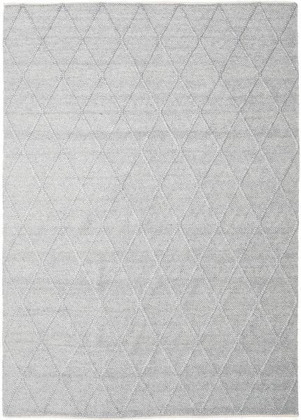 Svea - Sølvgrå Teppe 300X400 Ekte Moderne Håndvevd Lys Grå/Hvit/Creme Stort (Ull, India)