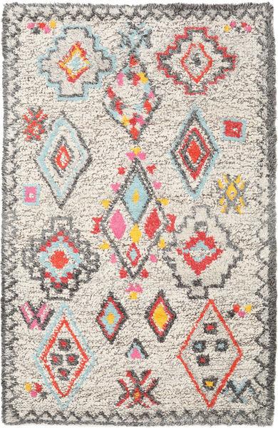Fatima - Multi Teppe 160X230 Ekte Moderne Håndvevd Lys Grå/Beige (Ull, India)