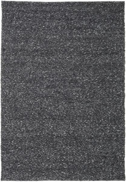 Bubbles - Melange Svart Teppe 200X300 Moderne Mørk Grå (Ull, India)
