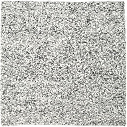 Bubbles - Melange Grå Teppe 250X250 Moderne Kvadratisk Lys Grå/Mørk Grå Stort (Ull, India)